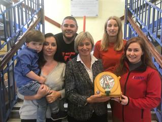 iCare donate defibrillator to Banbridge school after local plea