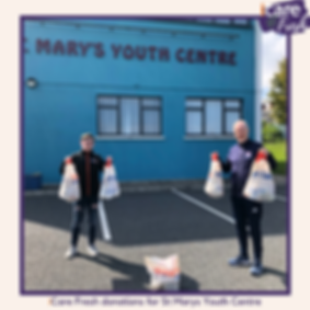 iCare Fresh donations for St Marys Youth