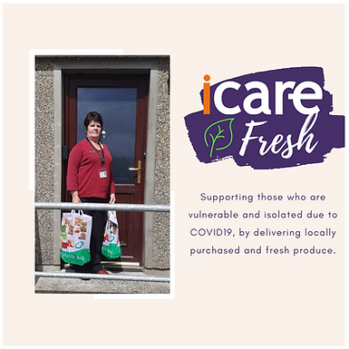 Patricia Delivers iCare Fresh Packages
