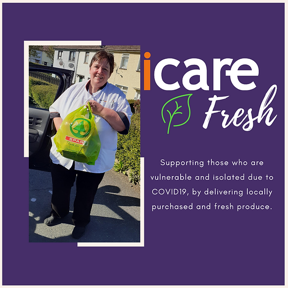 HCIL Care Assistant out Delivering for iCare Fresh