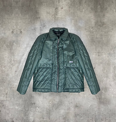 RAUS GREEN QUILTED BOMBER JACKET