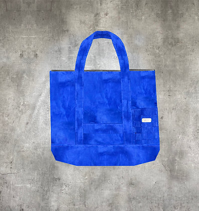 RAUS ARCTIC BLUE SUEDE TOTE