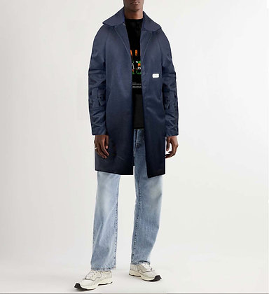 RAUS CASHMERE AND WOOL OVERCOAT