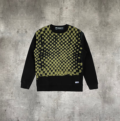RAUS HAND KNIT WOVEN CREW NECK