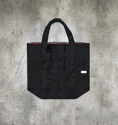 RAUS BLACK COTTON TOTE BAG