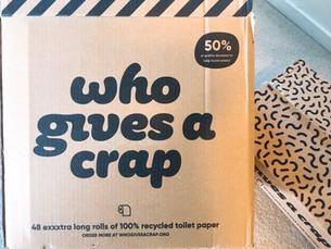 100% リサイクルのトイレットペーパー