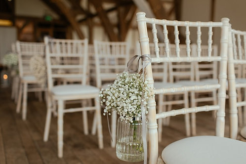 Various Hanging Chair End Decorations (Inner Aisle Jars / Decor) (from £)