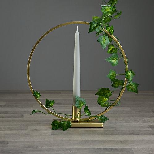 Gold Geometric Hoop Candle Holder