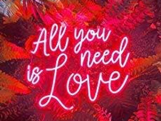 'All You Need is Love' White Neon Sign