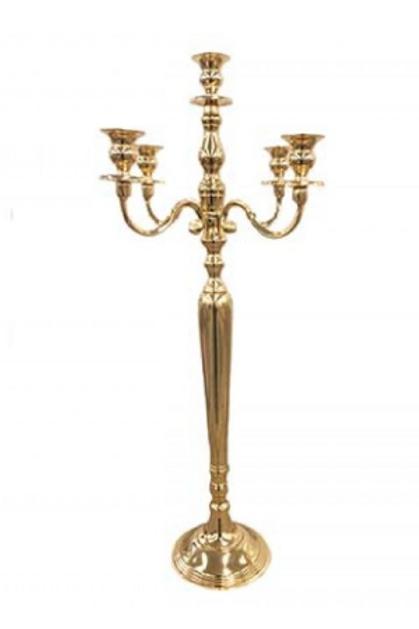 Gold 5-Arm 100cm Tall Candelabra