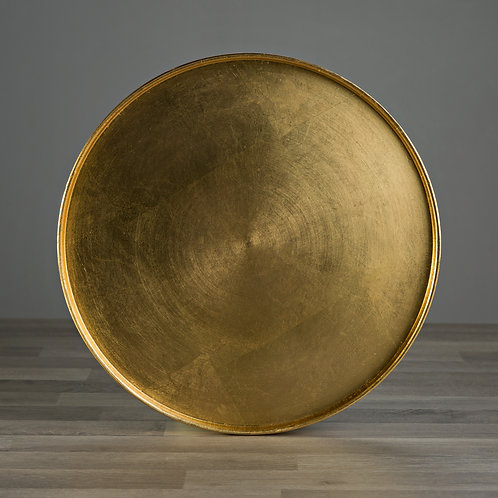 Smooth Gold Round Tray