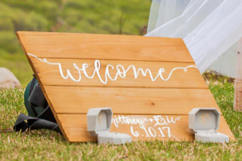 Bespoke Hand Painted or Decal Rustic Wood Style Signage (from £)