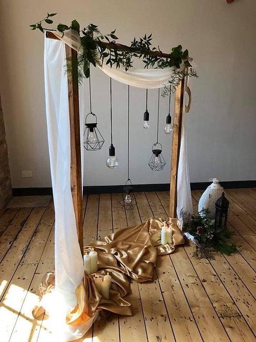 Rustic Wooden Wedding Arch / Backdrop