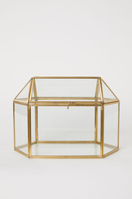 Gold Terrarium Style Wedding Cards Box (for cards, wishes, donations, etc.)