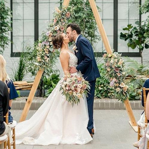 Geometric Triangle Wooden Wedding Arch / Backdrop