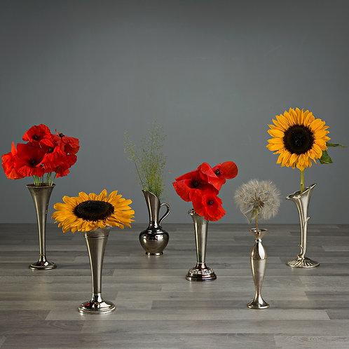 Silver Vintage Bud Vases