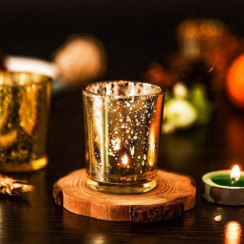 Gold Speckled Tea Light Candle Holders