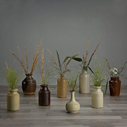 Small Vintage Stone Bottles / Jars