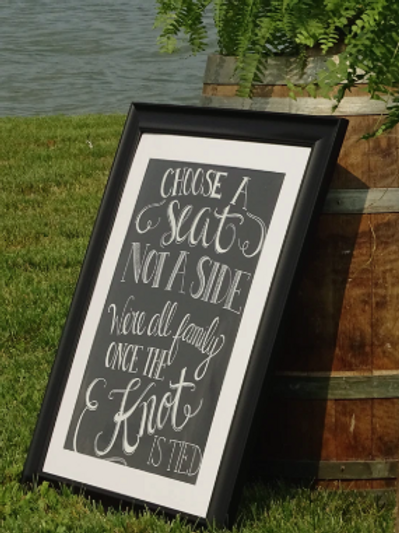 Bespoke Hand Painted Blackboard Style Signage (from £)