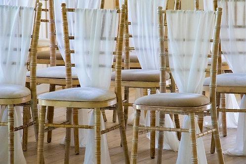 Chiffon Chair Drapes & Tie Backs