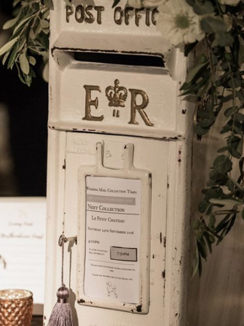 White Wedding Post Box (for cards, wishes, donations, etc.)