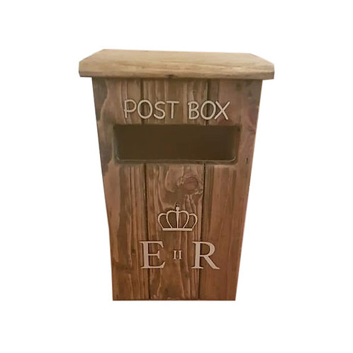 Rustic Wooden Post Boxes (for cards, wishes, donations, etc.)