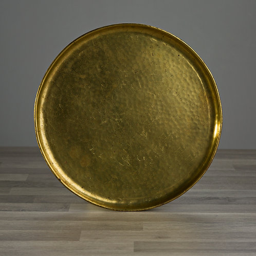 Gold Brass Hammered Effect Vintage Tray