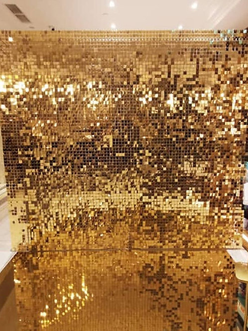 Gold Shimmer Sequin 'Air Active' Backdrop
