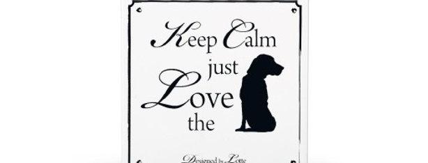 """Skilt """"Love the dog"""""""