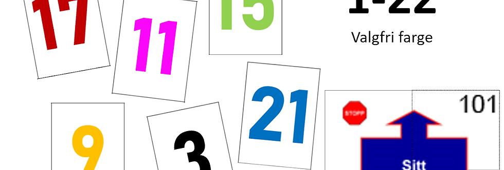 Nummerskilt til gjennomsiktige skiltholdere