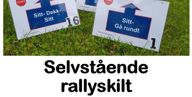 Selvstående rallyskilt, vendingspakke