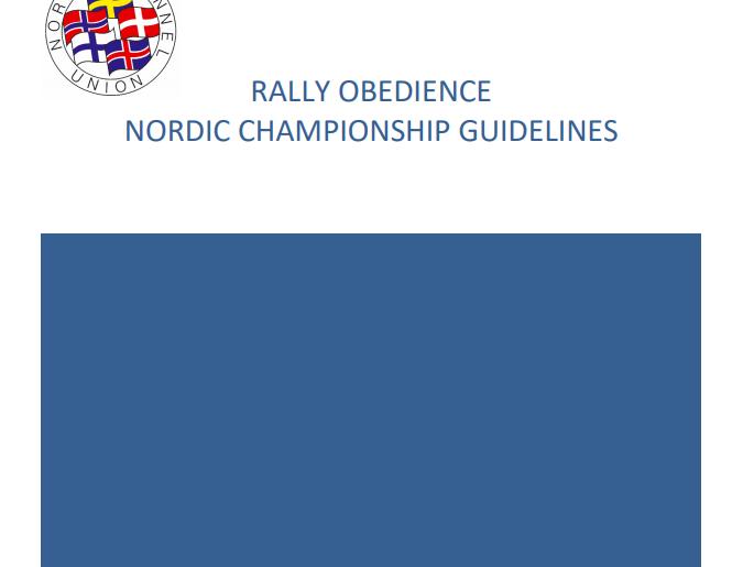 Nordisk regelverk + reglene for NoM og øvelsesbestemmelsene