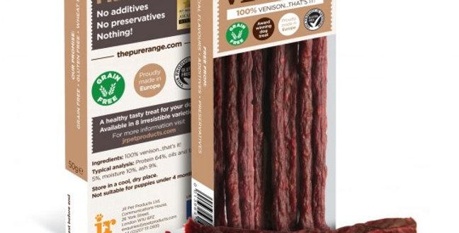 JR Pure Venison Sticks 50g
