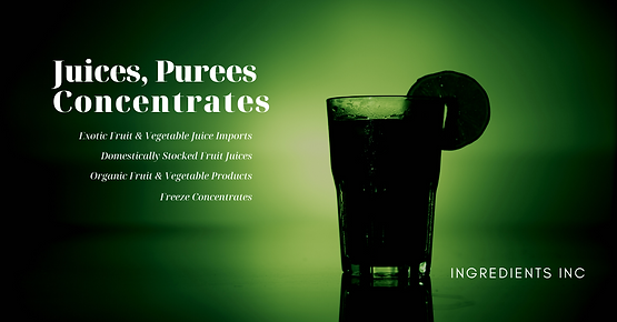 Juices, Purees and Concentrates