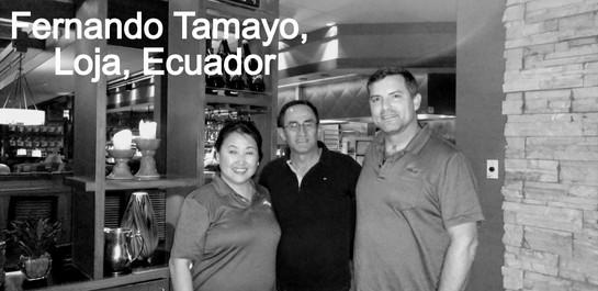 Fernando Tamayo, Special Coordinator, Loja Ecuador