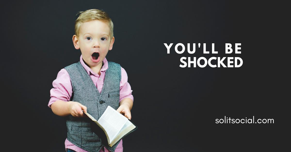 little boy shocked