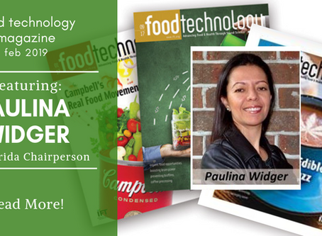 IFT's Food Technology Magazine features Ingredients Inc Sales Manager: Paulina Widger