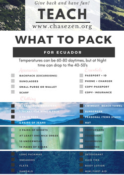 what to pack mountain scene
