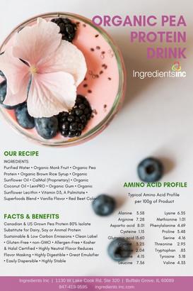 Ingredients Inc Organic Pea Protein