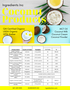 Coconut Products Product Information She