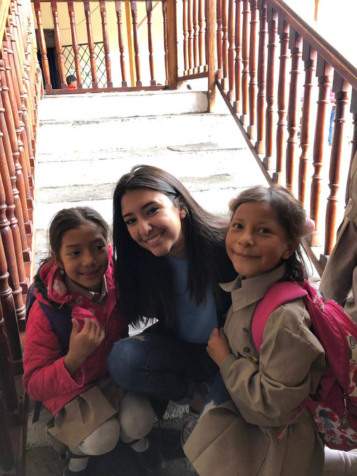 Aileen Munoz with Children in Ecuador