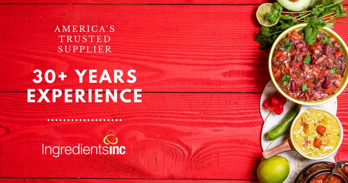 Ingredients Inc 30+ Years of Experience