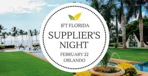Ingredients Inc IFT Suppliers Night