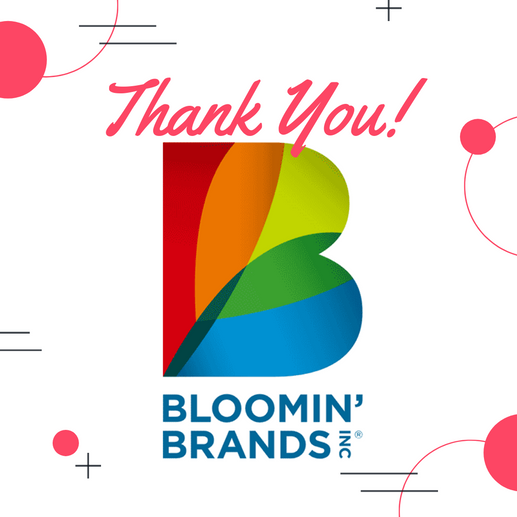 Thank You Bloomin Brands from IFT Florid