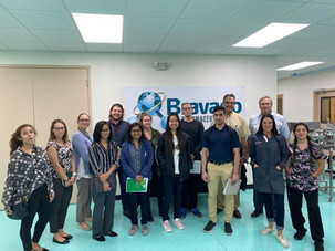 Dr. Andreas Seyfang, USF with his Translational BioTech Masters Students tours the Bravado Facilities in Lutz, FL
