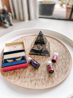 crystal oils and angel cards