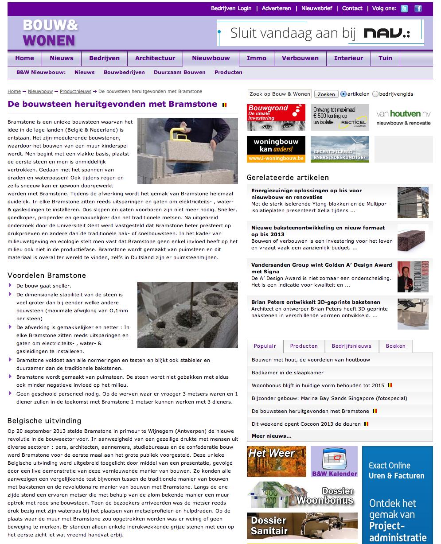 BRAMSTONE op www.bouwenwonen.net