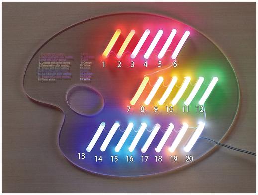 LEDネオン 色見本 発光