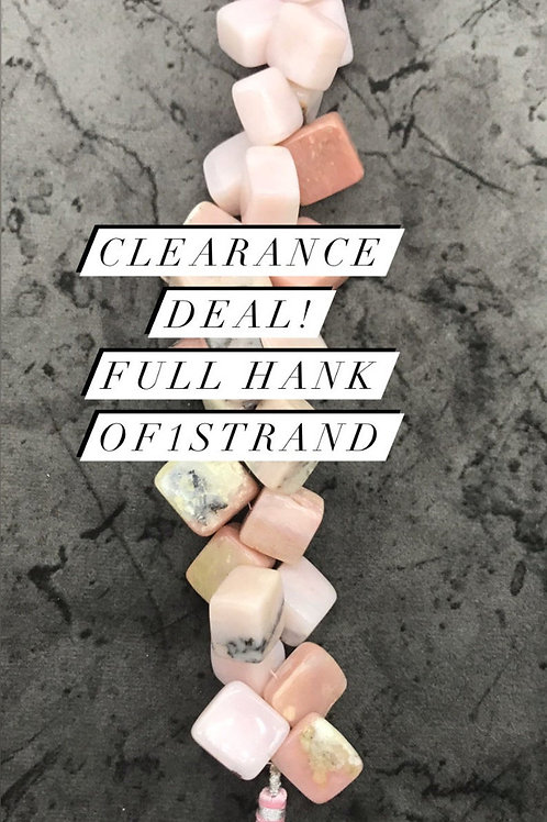 Closeout Sale Pink OpaL Plain square 1 strands full hank wholesale closeout deal
