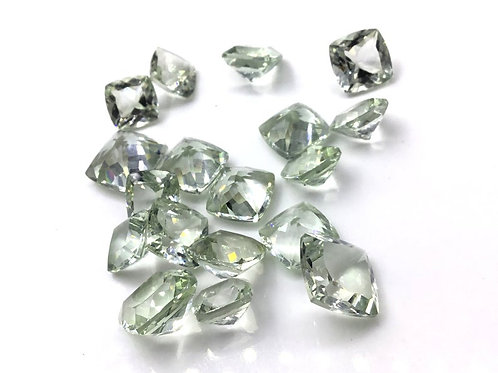Green Amethyst Faceted Fancy Cushion Loose Gemstone Natural